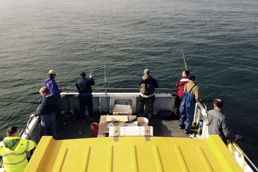 Fishing trip on the Seacat