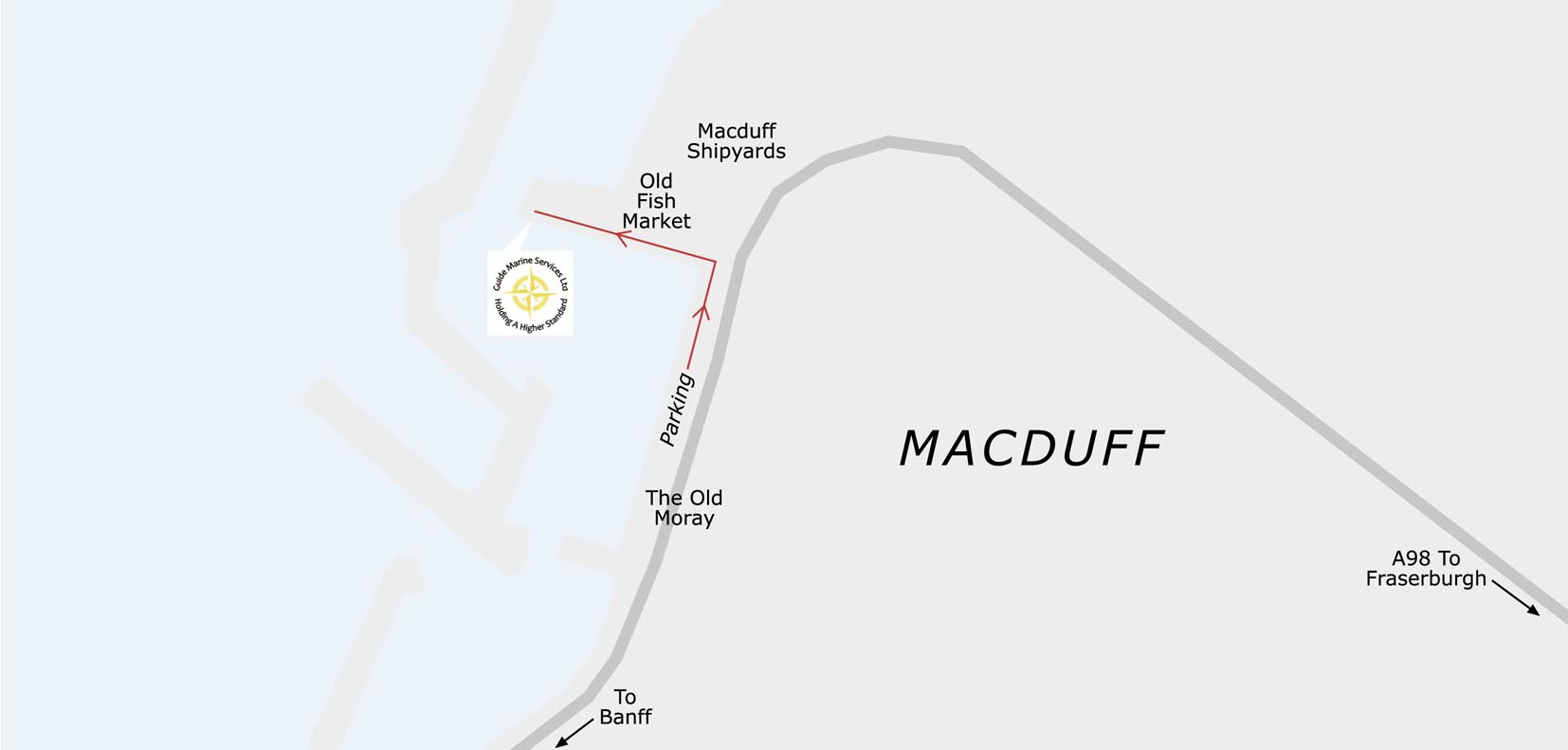 Macduff Harbour - Seacat pick up point